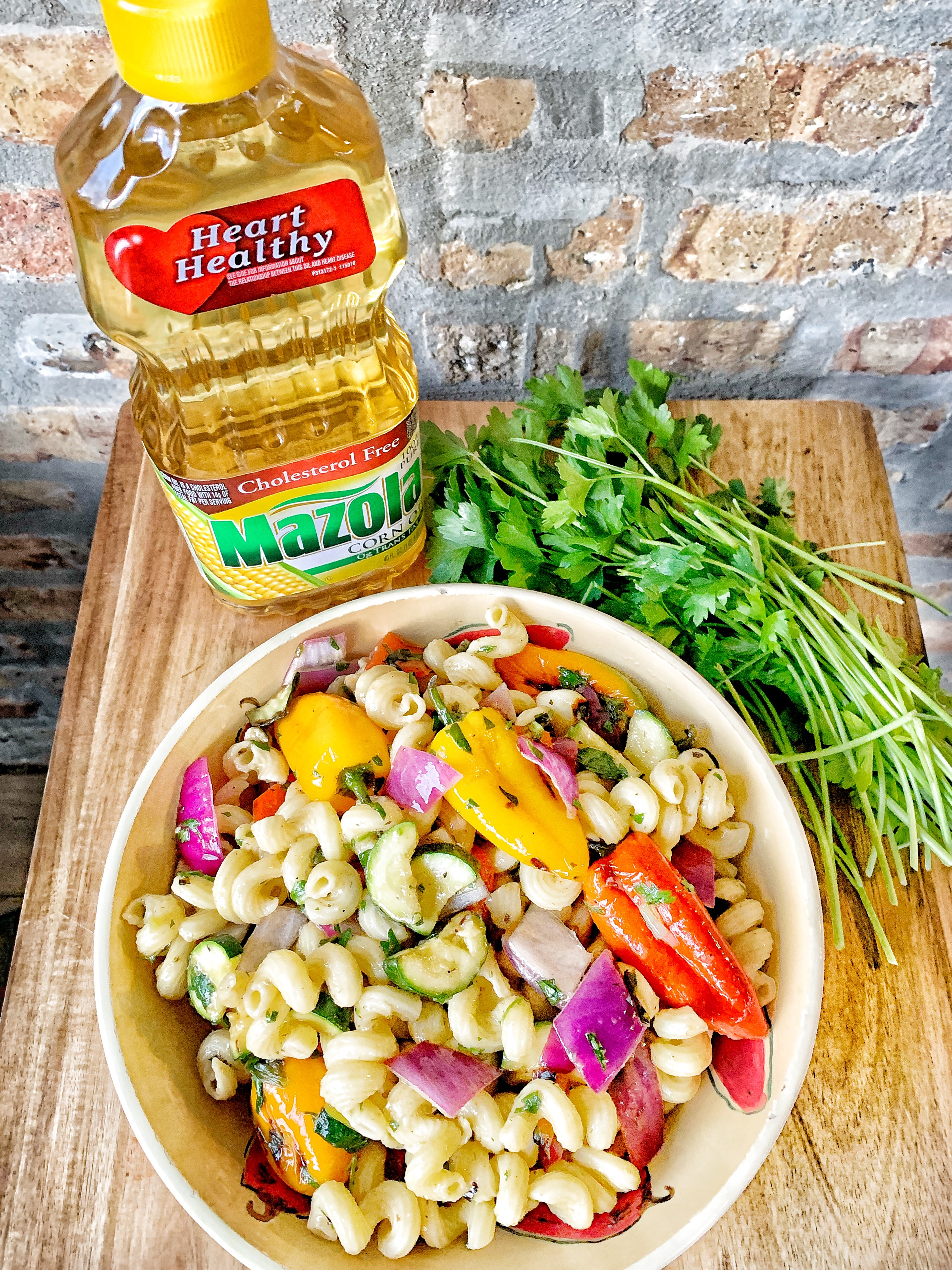 Grilled Vegetable Pasta Salad with Mazola Corn Oil - The